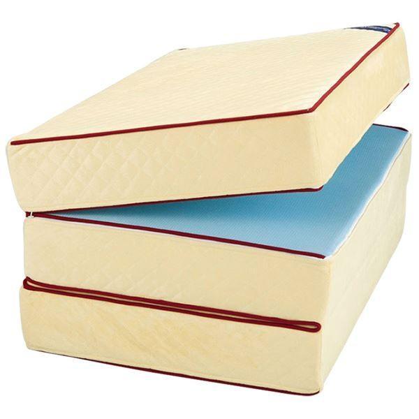 三つ折りマットレス エクセレントスリーパー3 〔厚さ6cm 低反発タイプ 洗えるカバー セミダブルサイズ〕 オンライン限定商品 売り込み