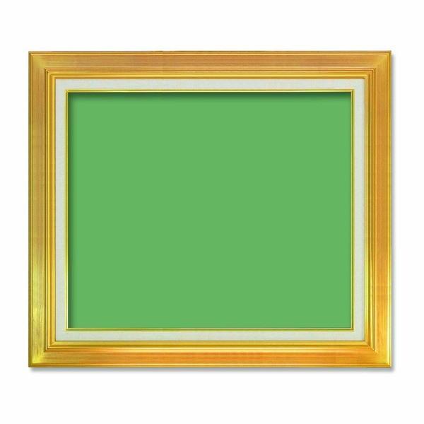 〔油額〕油絵額 キャンバス額 気質アップ 金の油絵額 銀の油絵額 激安卸販売新品 油絵額F12号 606×500mm ゴールド