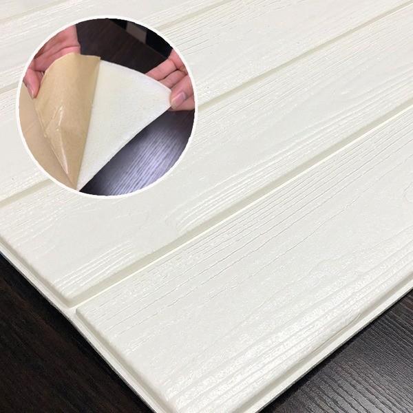 木目調 クッションシート壁〔ホワイトウッド〕 12枚組 壁紙シール 壁用クッションパネルシート 壁紙シート〔代引不可〕 売れ筋 ウッドシート 定価 3D立体壁紙
