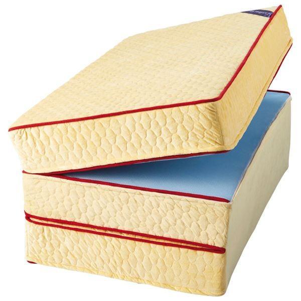 マットレス 市販 気質アップ 〔厚さ6cm セミダブル 硬質〕 日本製 エクセレントスリーパー5 リバーシブル 洗えるカバー付 通年使用可