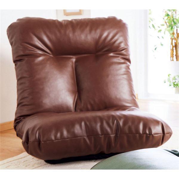 ボリュームたっぷり 驚きの値段 座椅子 パーソナルチェア 〔同色2脚組 日本製 5段階リクライニング ブラウン〕 まとめ買い特価