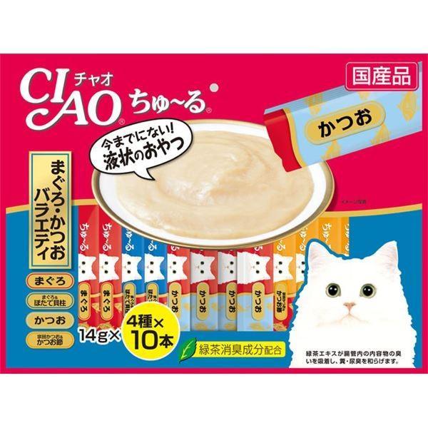 まとめ 購買 CIAO ちゅ〜る まぐろ 未使用品 かつおバラエティ 14g×40本 ペット用品 〔×8セット〕 猫フード