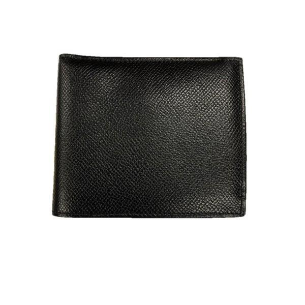 送料無料新品 イタリア製ファクトリー革小物 牛革 レザーアイテム 二つ折り財布 ブラック 小銭入れありタイプ 384DX ウォレット 評判
