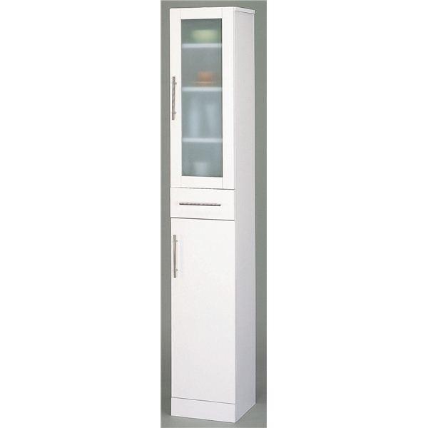 ガラス扉食器棚 キッチン収納 〔スリムタイプ 幅30cm〕 新品未使用 ミストガラス使用 カトレア 大容量 〔組立〕 新作製品 世界最高品質人気