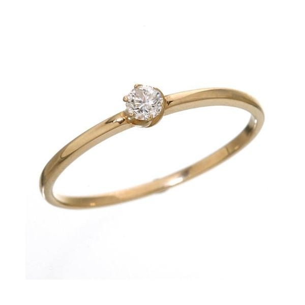 K18 ダイヤリング 指輪 人気の定番 ピンクゴールド 15号 シューリング 正規認証品!新規格