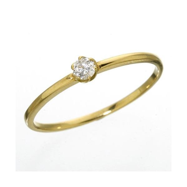 K18 ダイヤリング 全店販売中 指輪 シューリング 13号 送料無料でお届けします イエローゴールド