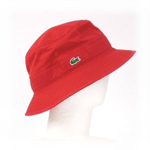 ラコステ メンズ 帽子 ハット レディース LACOSTE サファリハット バケットハット 8532 コットン ブランド 春 夏 レッド 58 メール便 あすつく|museum8|03