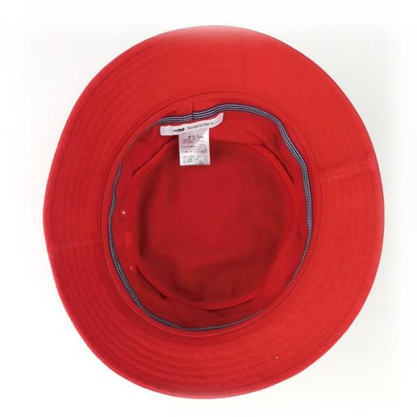 ラコステ メンズ 帽子 ハット レディース LACOSTE サファリハット バケットハット 8532 コットン ブランド 春 夏 レッド 58 メール便 あすつく|museum8|04