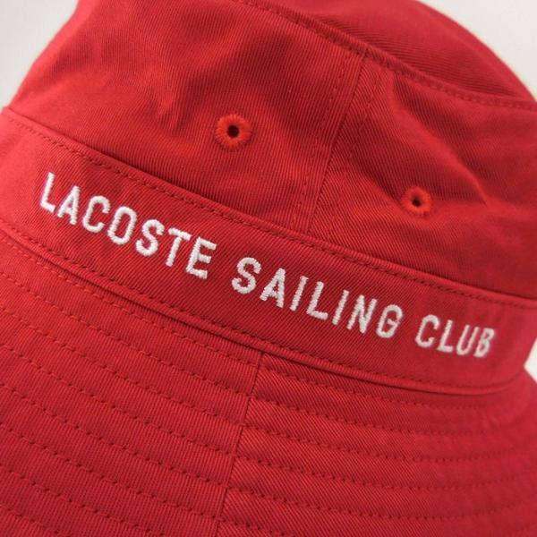 ラコステ メンズ 帽子 ハット レディース LACOSTE サファリハット バケットハット 8532 コットン ブランド 春 夏 レッド 58 メール便 あすつく|museum8|06