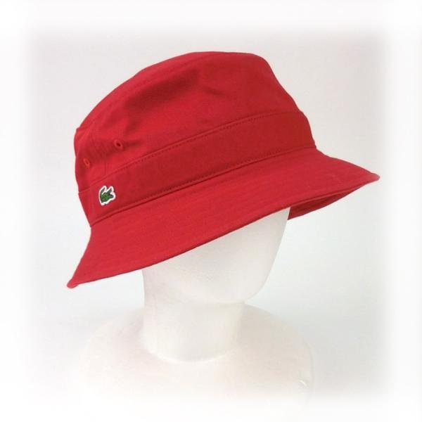 ラコステ メンズ 帽子 ハット レディース LACOSTE サファリハット バケットハット 8532 コットン ブランド 春 夏 レッド 58 メール便 あすつく|museum8|09