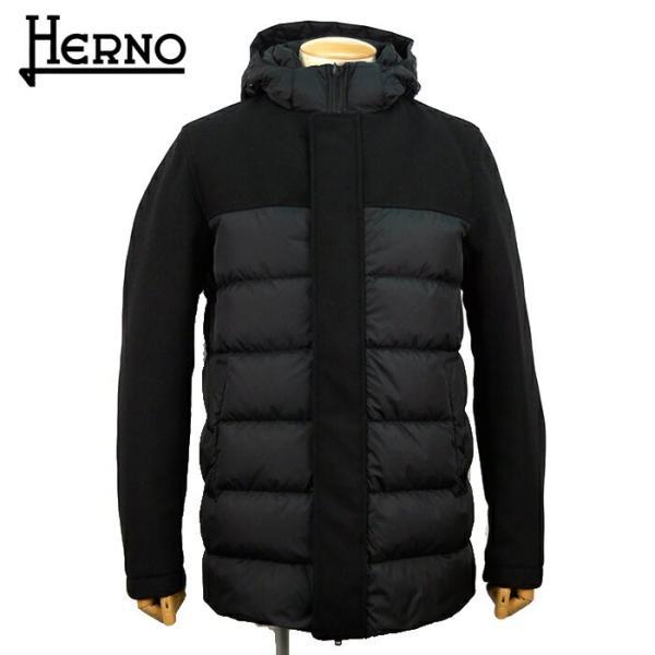 ヘルノ HERNO メンズ ダウン ダウンコート ダウンジャケット PI0468U12004 フード アウター ブランド 秋冬 9389/ブラック 50 52 あすつく|museum8