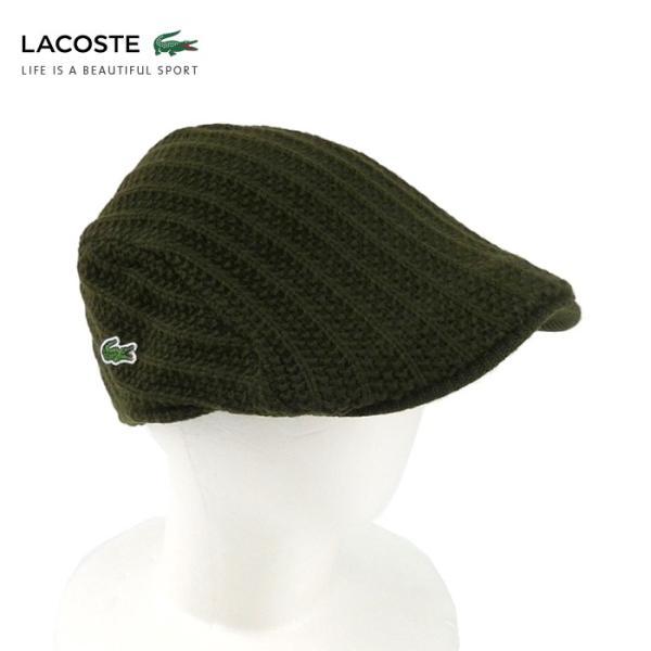 ラコステ メンズ 帽子 ハット レディース LACOSTE ハンチング ベレー帽 9936 ウール ブランド L3329 春秋 カーキ あすつく メール便|museum8