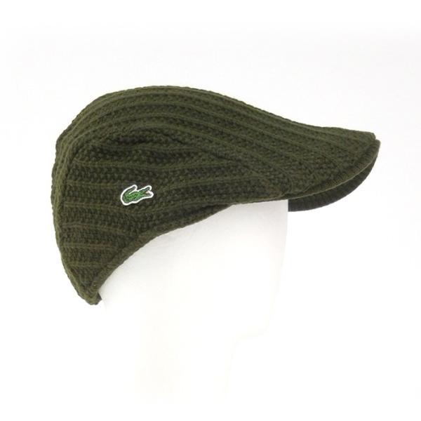 ラコステ メンズ 帽子 ハット レディース LACOSTE ハンチング ベレー帽 9936 ウール ブランド L3329 春秋 カーキ あすつく メール便|museum8|03