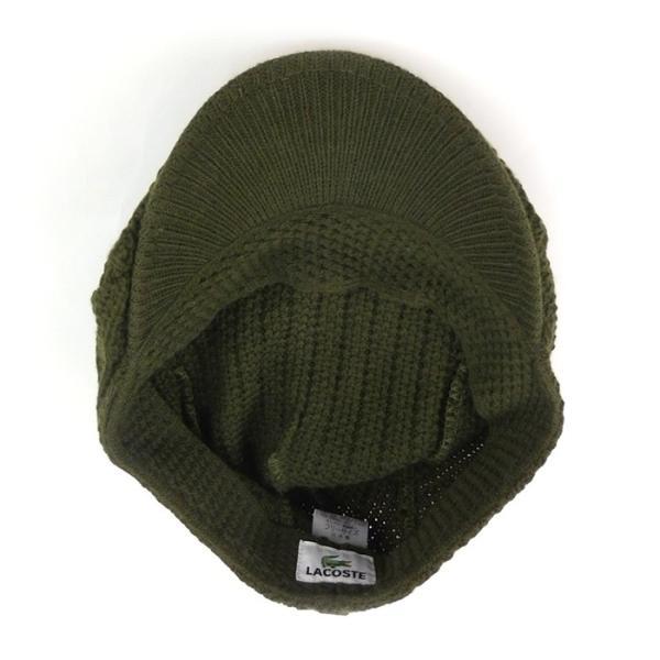 ラコステ メンズ 帽子 ハット レディース LACOSTE ハンチング ベレー帽 9936 ウール ブランド L3329 春秋 カーキ あすつく メール便|museum8|04