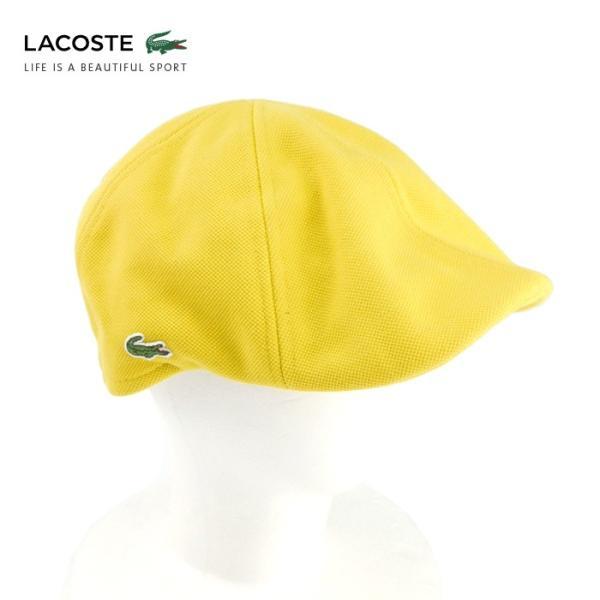 ラコステ メンズ 帽子 ハット レディース LACOSTE ハンチング ベレー帽 キャスケット コットン ブランド 春 夏 イエロー あすつく メール便|museum8
