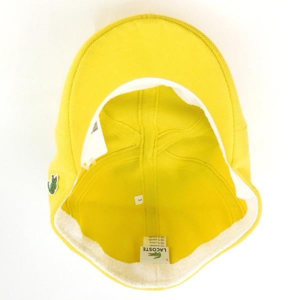 ラコステ メンズ 帽子 ハット レディース LACOSTE ハンチング ベレー帽 キャスケット コットン ブランド 春 夏 イエロー あすつく メール便|museum8|04