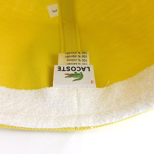 ラコステ メンズ 帽子 ハット レディース LACOSTE ハンチング ベレー帽 キャスケット コットン ブランド 春 夏 イエロー あすつく メール便|museum8|08