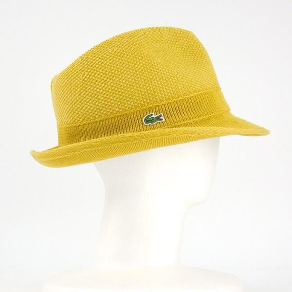 ラコステ メンズ 帽子 中折れ帽子 麦わら帽子 レディース LACOSTE ストローハット 1万0584 UV コットン ブランド 春 夏 イエロー 58 あすつく museum8 03