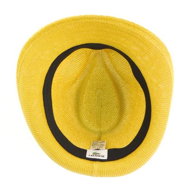 ラコステ メンズ 帽子 中折れ帽子 麦わら帽子 レディース LACOSTE ストローハット 1万0584 UV コットン ブランド 春 夏 イエロー 58 あすつく museum8 04