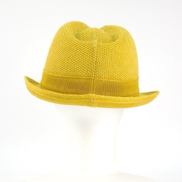 ラコステ メンズ 帽子 中折れ帽子 麦わら帽子 レディース LACOSTE ストローハット 1万0584 UV コットン ブランド 春 夏 イエロー 58 あすつく museum8 05
