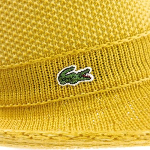 ラコステ メンズ 帽子 中折れ帽子 麦わら帽子 レディース LACOSTE ストローハット 1万0584 UV コットン ブランド 春 夏 イエロー 58 あすつく museum8 09