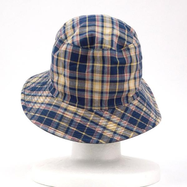 ラコステ メンズ 帽子 レディース LACOSTE バケットハット サファリハット 7452 チェック柄 ブランド 秋 冬 ネイビー あすつく メール便|museum8|08