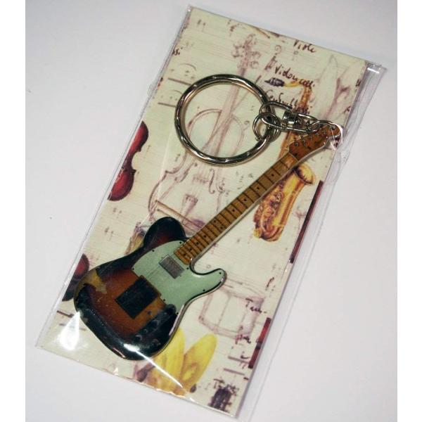 メタルキーホルダーアンディサマーズテレキャスター風キーリング楽器ギターMusicalStory
