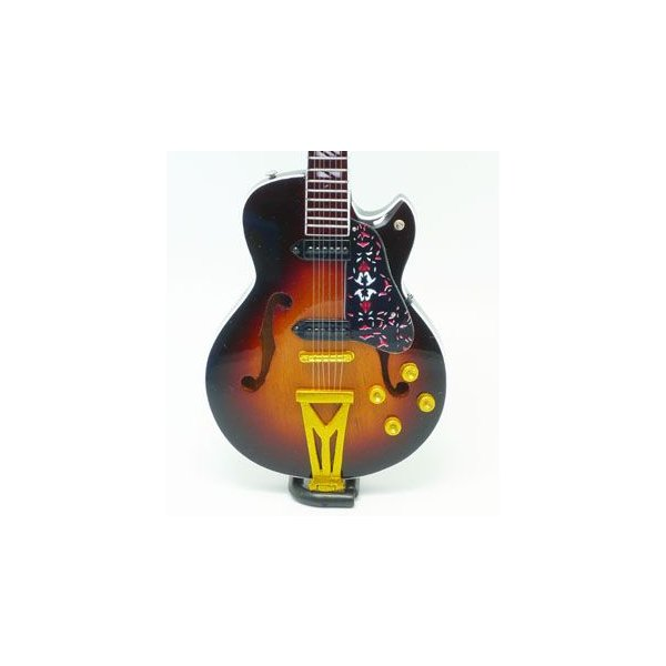 MusicalStory 1/4ミニチュア楽器模型ギターフィギュアエルヴィスプレスリーSUPER400