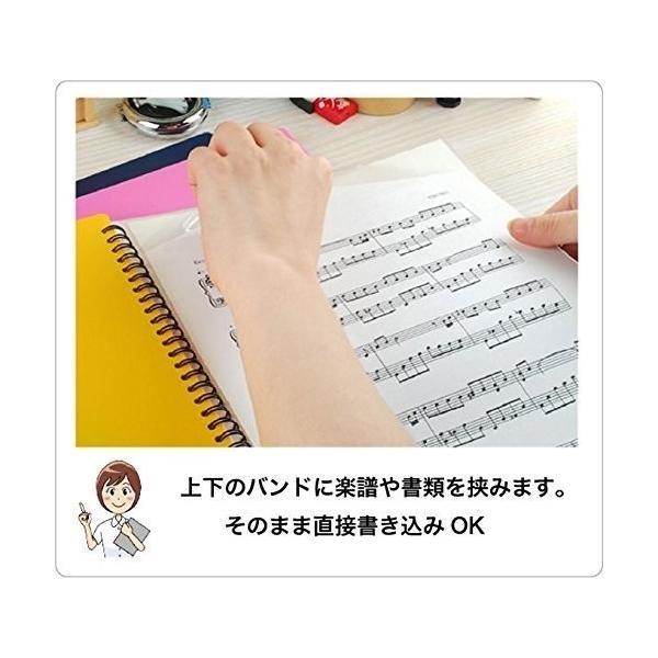 バンドファイル 楽譜ファイル 送料無料 アウトレット処分 30ポケット File PLUS +Do(A4、60ページ)  リング式 ファイルから出さずに書き込みOK|musicoffice|07