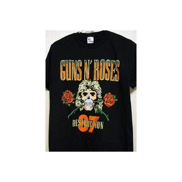 ガンズアンドローゼズ Guns N' Roses - Appetite for Destruction UK Tour 1987: Reissue T-shirt L-size
