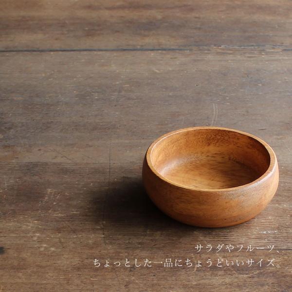 ラウンドボウルM アカシア 食器 ボウル 木製 ナチュラル 北欧風|mustyle-kobe|02