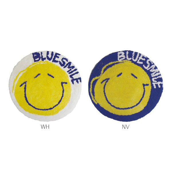 BLUESMILEラウンドマット ラウンドマット マット ラウンド 円形 スマイル 綿 コットン インド製|mustyle-kobe|02