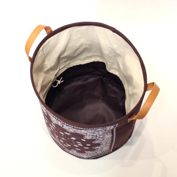 バンダナ柄バスケット ラウンドL バスケット 収納 ボックス 軽量 折りたたみ 小物入れ 見せる収納|mustyle-kobe|06