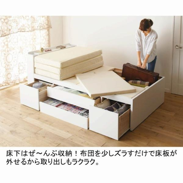 大量 収納ベッド VB B Bシングル2( 大量収納 木製ベッド シングルベッド 引き出し付きベッ 送料無料!【大型】 mutow 05