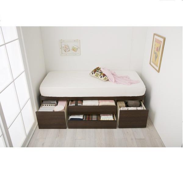 大量 収納ベッド VB A Aセミシングルショート( 大量収納 木製ベッド セミシングルベッド 引 送料無料!【大型】 mutow