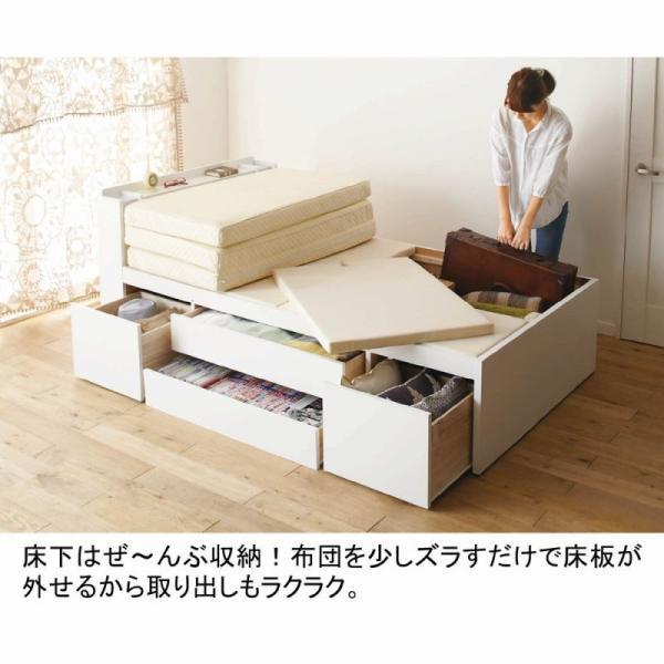 大量 収納ベッド VB A Aセミシングルショート( 大量収納 木製ベッド セミシングルベッド 引 送料無料!【大型】 mutow 05
