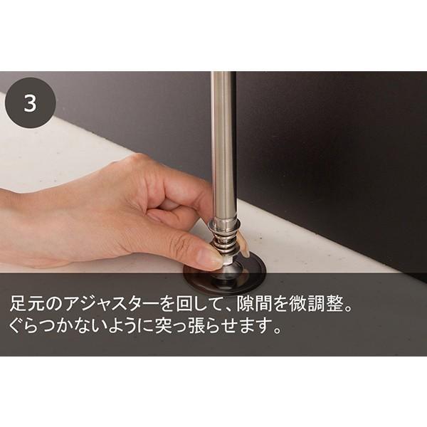 8%OFF対象商品!水切りラック シンク上 スリム ステンレス おしゃれ 突っ張り 箸置き 布巾かけ まな板立て 水切りかご 日本製 送料無料|mutow|13
