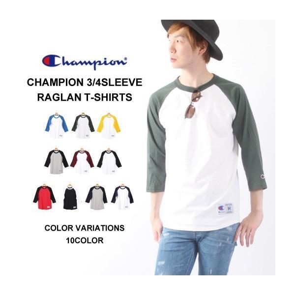 Tシャツ チャンピオン(CHAMPION)7分袖Tシャツ メンズ 無地 ティーシャツ  七分袖Tシャツ|muziichiba