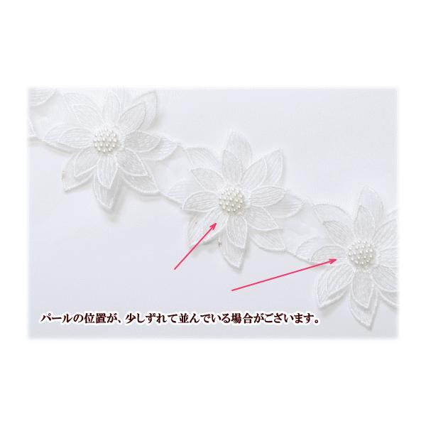 ゆうパケ可 お花のチュールレース 約65mm幅 2Y(約1.8m) 《 ハンドメイド 手芸 手作り ドレス 衣装 装飾 花 レース モチーフ 》|my-mama|05