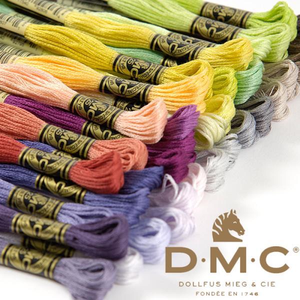 DMC社の刺繍糸 25番糸1本売り 白〜黒系 17色 《 刺繍 刺しゅう ししゅう ステッチ クロスステッチ ハンドメイド 手芸 手作り 》