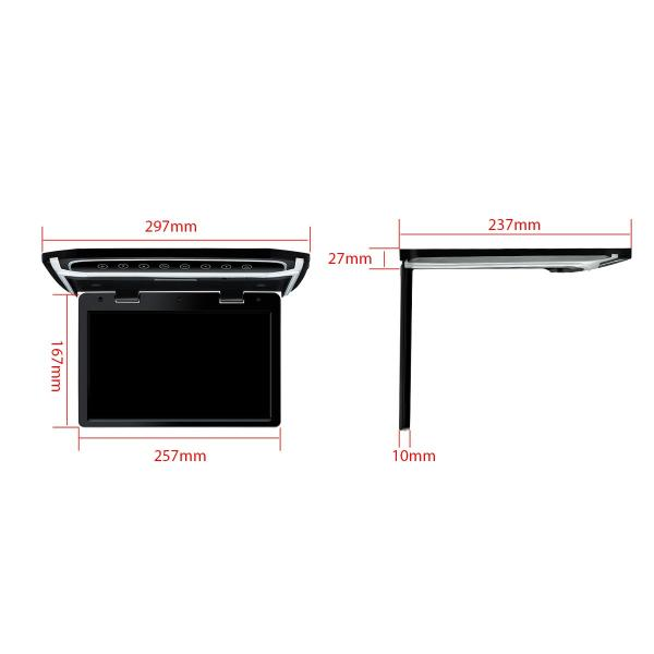 (CM101HD)XTRONS 10.2インチ フリップダウンモニター 1024x600 解像度 超薄 HDMI対応 1080Pビデオ対応 MP5対応 外部入力 ドア連動 水平開閉180度 USB・SD|mycarlife-jp|06