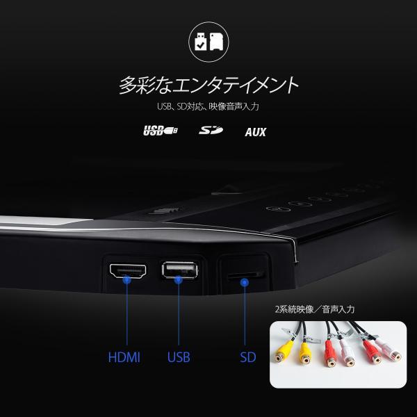 (CM121HD)XTRONS 12.1インチ 大画面 フリップダウンモニター 1280x800 解像度 超薄 軽 HDMI対応 1080Pビデオ対応 外部入力 ドア連動 水平開閉120度 USB・SD|mycarlife-jp|05