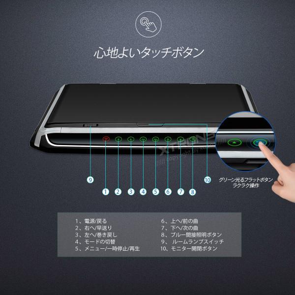 (CM156HD)XTRONS 15.6インチ 大画面 フリップダウンモニター 1920x1080 フルHD HDMI対応 1080Pビデオ対応 外部入力 ドア連動 水平開閉180度 USB・SD mycarlife-jp 04