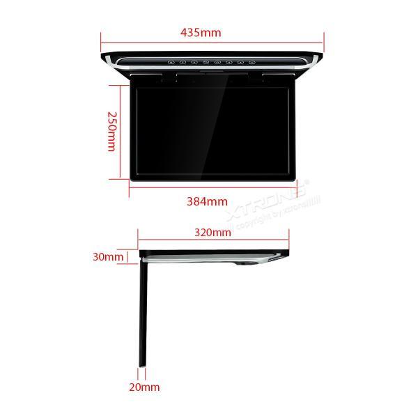 (CM156HD)XTRONS 15.6インチ 大画面 フリップダウンモニター 1920x1080 フルHD HDMI対応 1080Pビデオ対応 外部入力 ドア連動 水平開閉180度 USB・SD mycarlife-jp 08