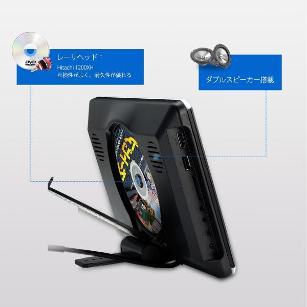 (HD1003HD)XTRONS 10.2インチ ヘッドレスト モニター DVDプレーヤー 超高画質1280*720 1080Pビデオ対応 MP5対応 木目調フレーム 軽薄 取付0円 USB・SD|mycarlife-jp|05
