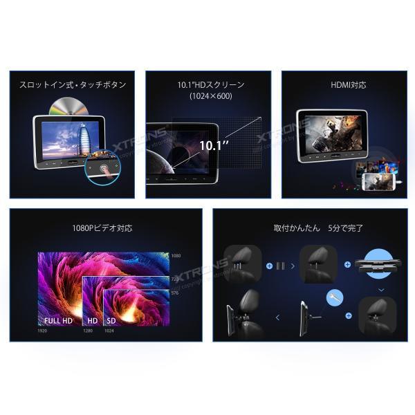 (HD107HD)10インチ大画面 WSVGA高画質 1080Pビデオ対応 ヘッドレスト DVDプレーヤーモニター スロットイン式 軽薄 取付0円 ゲーム HDMI・USB・SD 1個1セット|mycarlife-jp|02