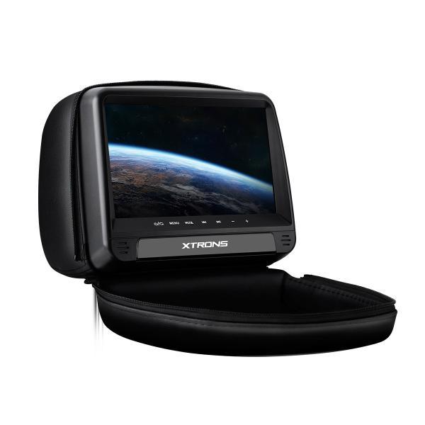 (HD923)XTRONS 9インチ ヘッドレスト DVDプレーヤー スロットイン式 HDMI対応 外部入力・出力 カバー付き ゲーム