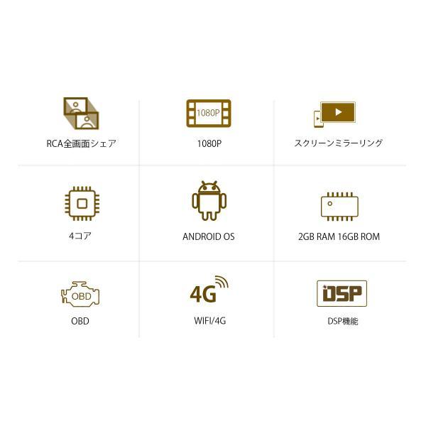 XTRONS 8コア Android8.0 カーナビ 静電式 2DIN 一体型車載PC 7インチ ROM32GB+RAM2GB OBD2 4G WIFI ミラーリング バックカメラ付(TB708PL+CAM009Y)|mycarlife-jp|02