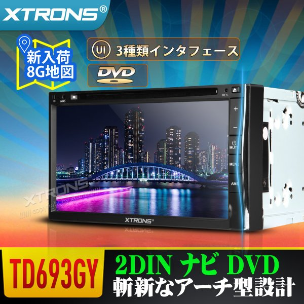 (TD693GY)2DIN 6.95'' カーナビ DVDプレーヤー