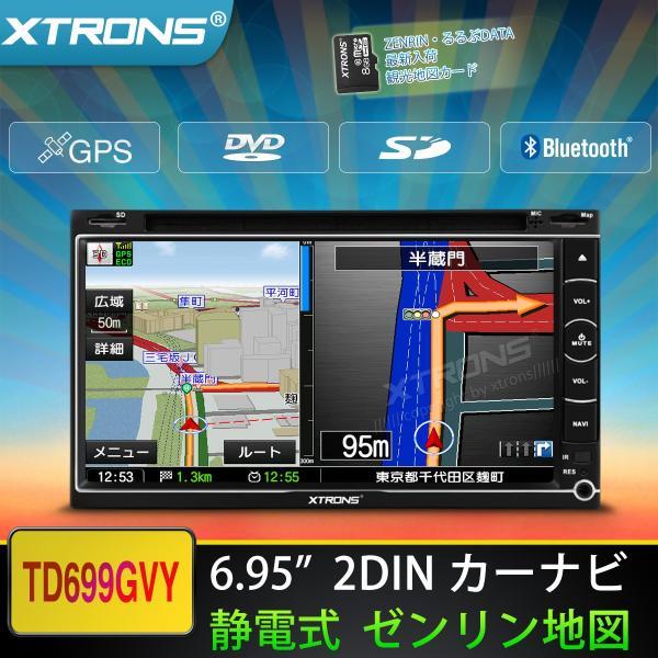 """(TD699GY)2DIN 6.95"""" カーナビ DVDプレーヤー"""